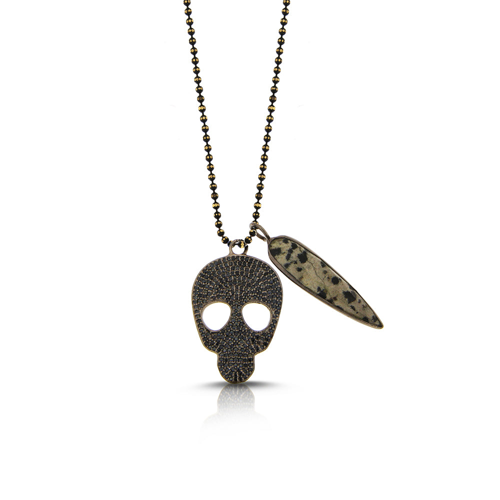 Skull Jasper Necklace