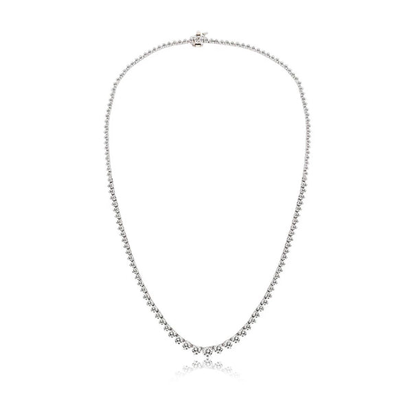3.16 Carat Diamond Tennis Necklace
