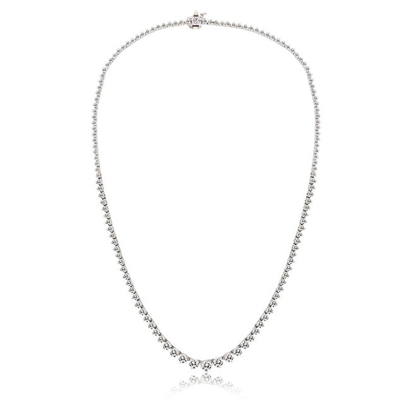 Rose Gold and Diamond Riviera Tennis Necklace Meira T 7 carat