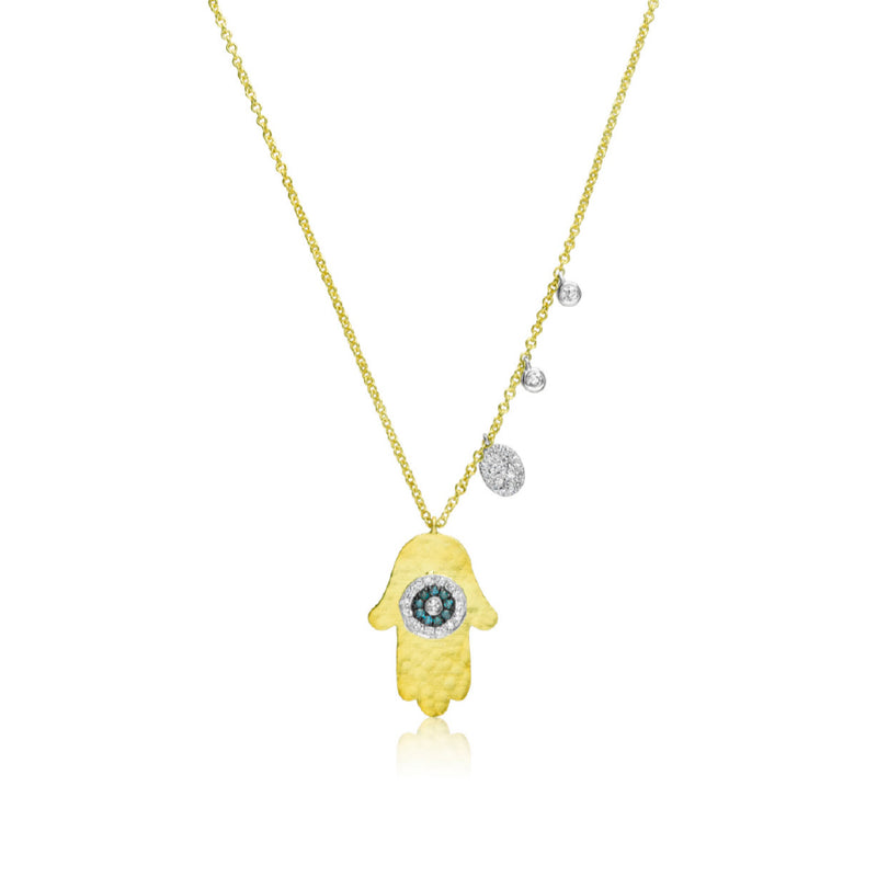 Hammered Hamsa Necklace
