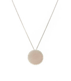 White Gold Silver Plated Necklace