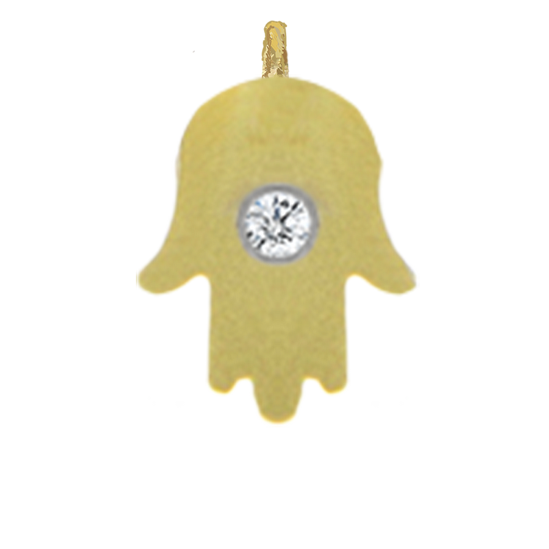 Yellow Gold Inverted Hamsa