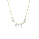 Meira T Custom Initial Diamond Necklace with 4 letters