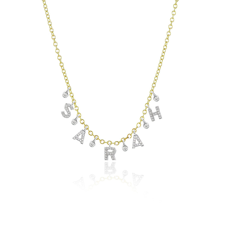 diamond intial necklace-Meira T