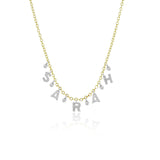 Meira T Custom Initial Diamond Necklace with 5 letters
