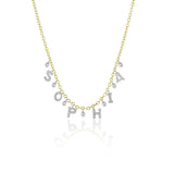Meira T Custom Initial Diamond Necklace with 6 letters