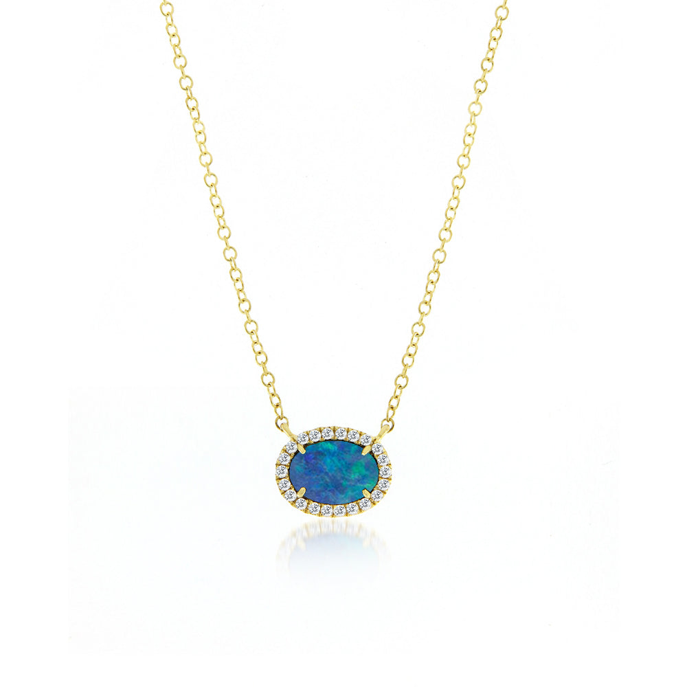 Meira t australian opal and diamond necklace aloadofball Image collections