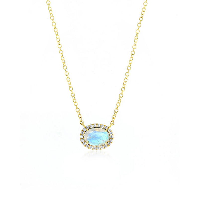 Meira T Moonstone and Diamond Necklace
