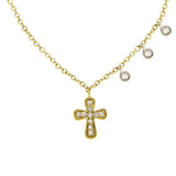 Trendy Diamond Cross Necklace