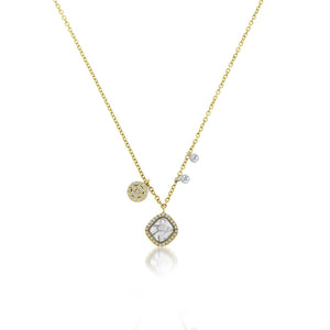 Rough Diamond Charm Necklace
