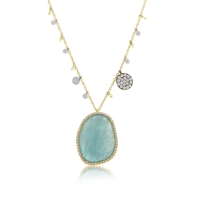 aqua blue stone necklace