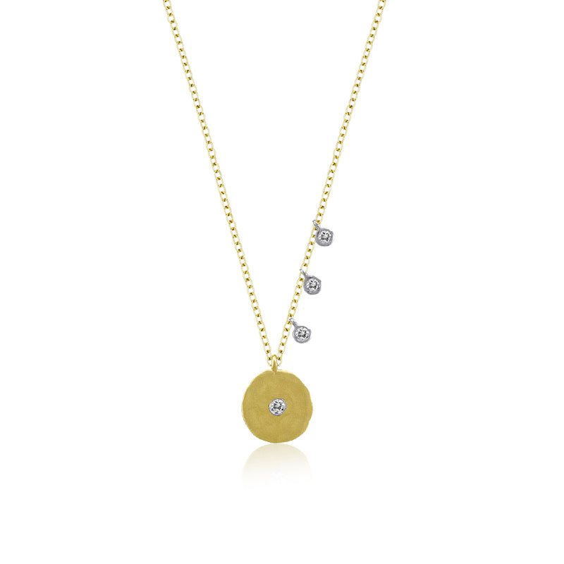 Signature Off Center Disk Necklace