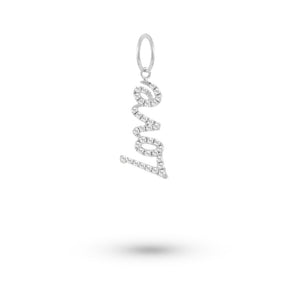 White Gold Love Diamond Charm
