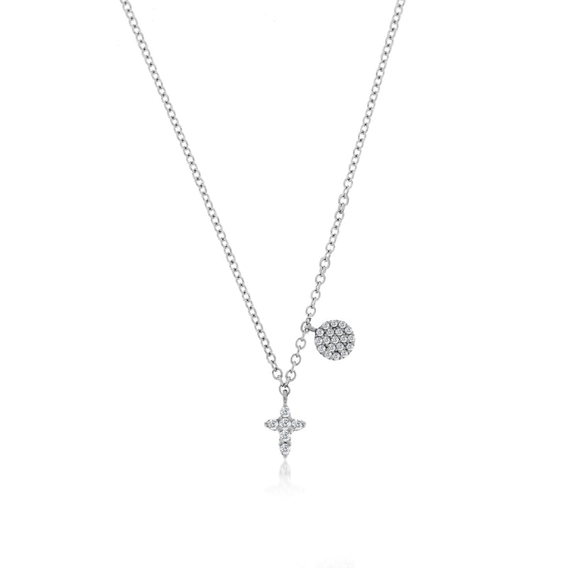 Diamond Encrusted Cross Necklace