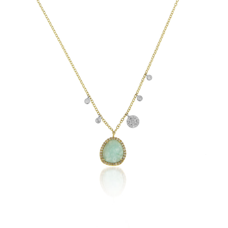 Amazonite Off-Centered Charm Necklace