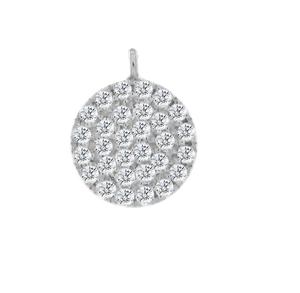 White Gold Diamond Pave Disc