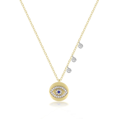 Yellow Gold Diamond Love Necklace