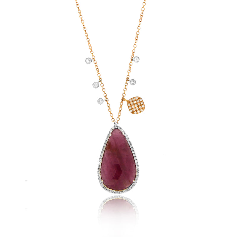 Rose Gold Ruby Necklace