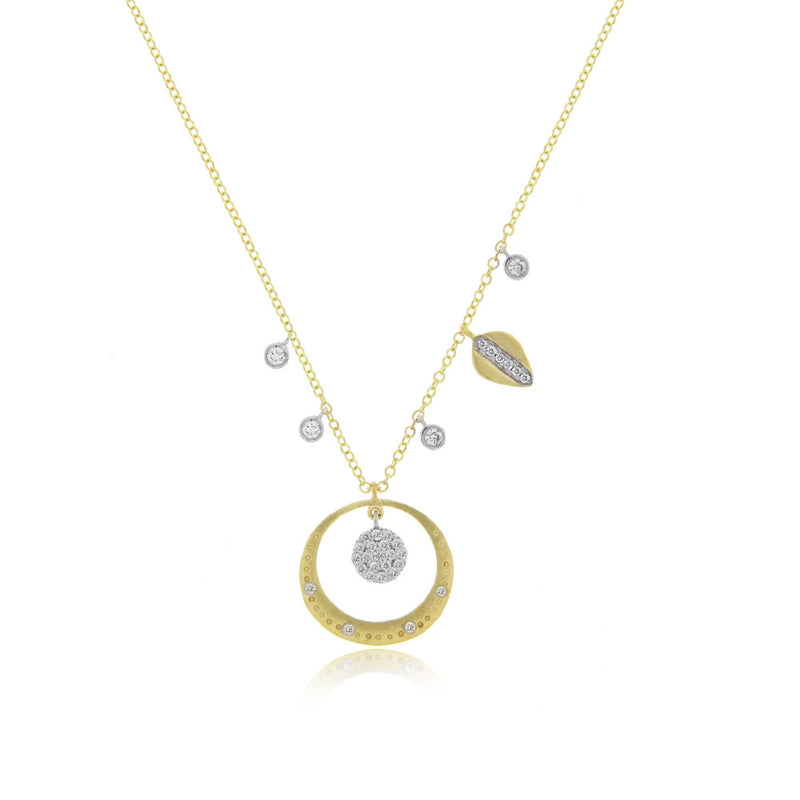 Diamond Pave Halo Necklace