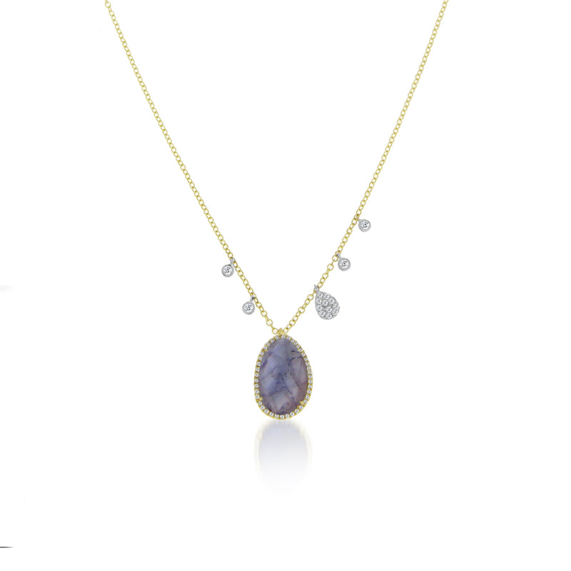 Tanzanite Off-Centered Necklace