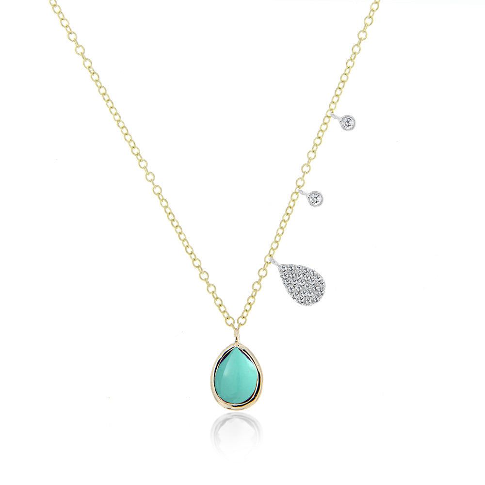 turquoise charm necklace
