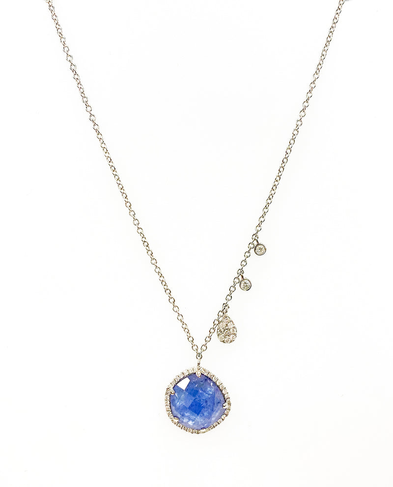 White Gold Druzy Necklace