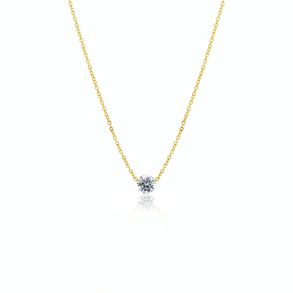 Solitaire Drilled Diamond Necklace