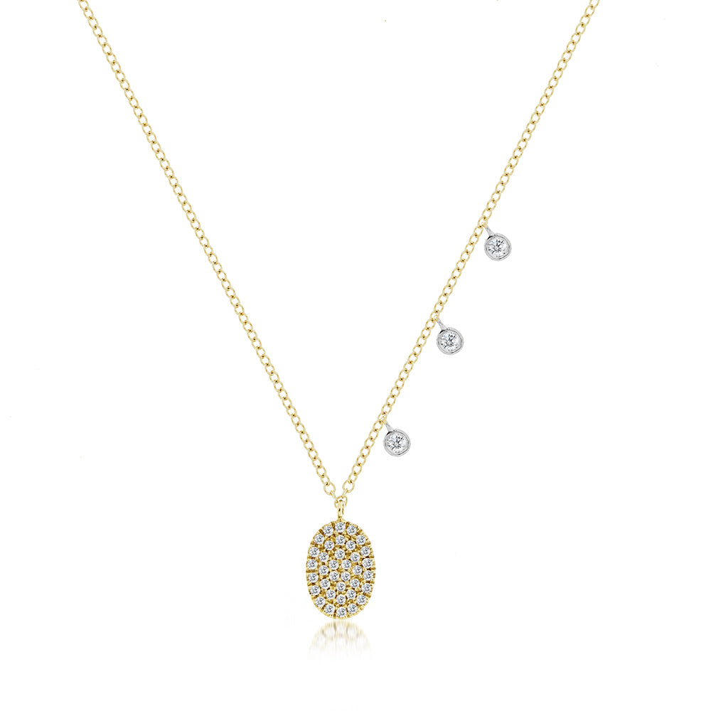 Yellow Meira T Signature Oval Disc Necklace