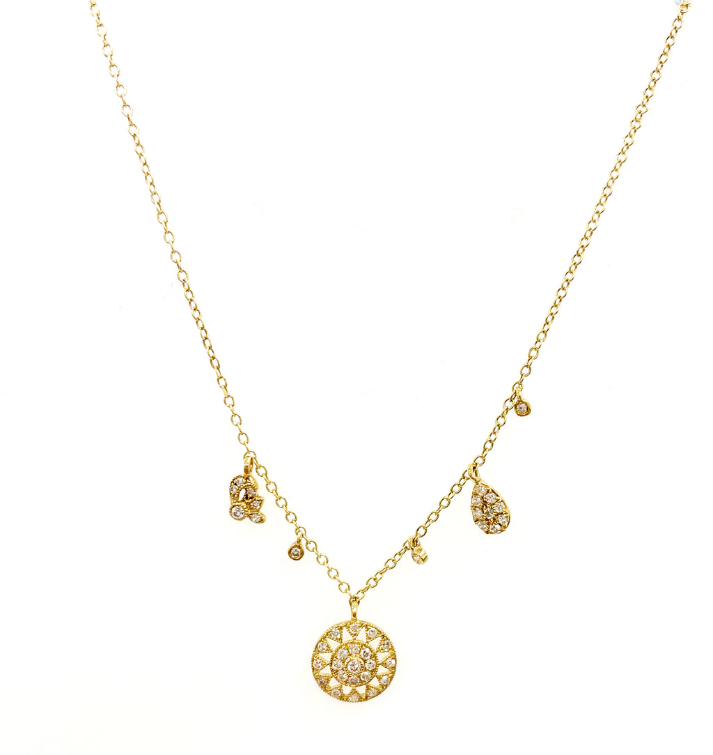 Antique Inspired Yellow Gold Necklace