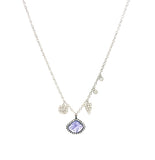 14k Rose Gold, Tanzanite, Diamond & Charm Necklace