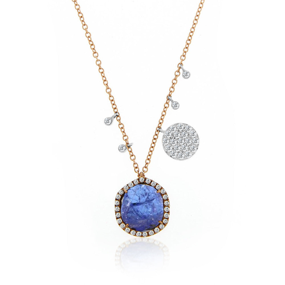 Tanzanite Rose Gold Necklace
