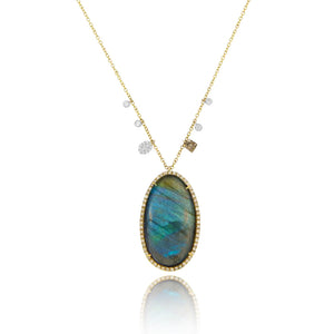 Yellow Labradorite Necklace