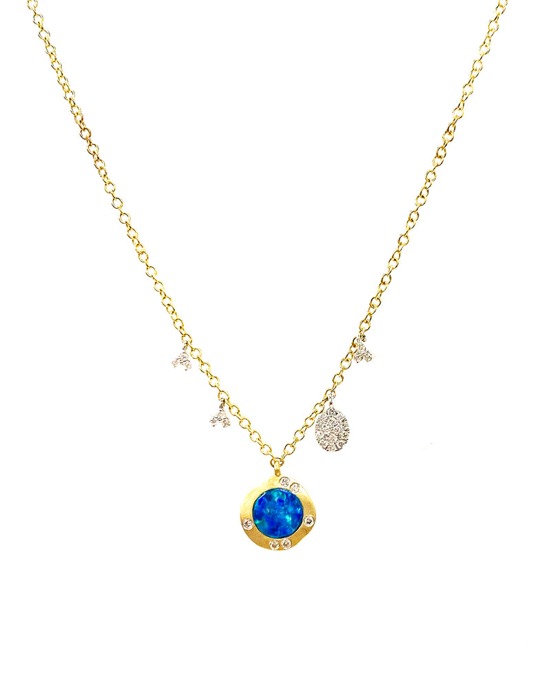 Yellow Gold Opal Necklace