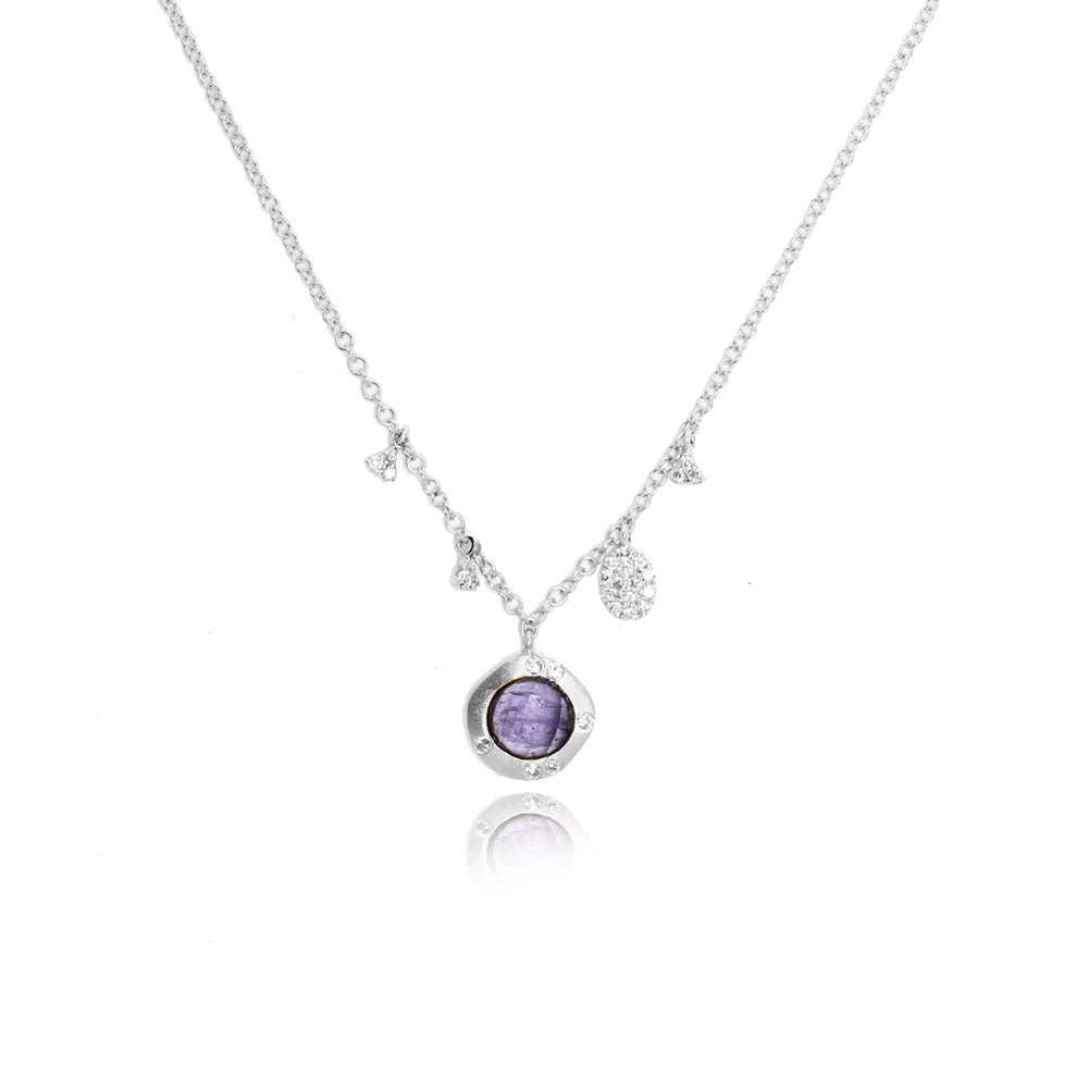 Tanzanite White Gold Necklace