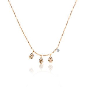 Pear Diamonds Charm Necklace