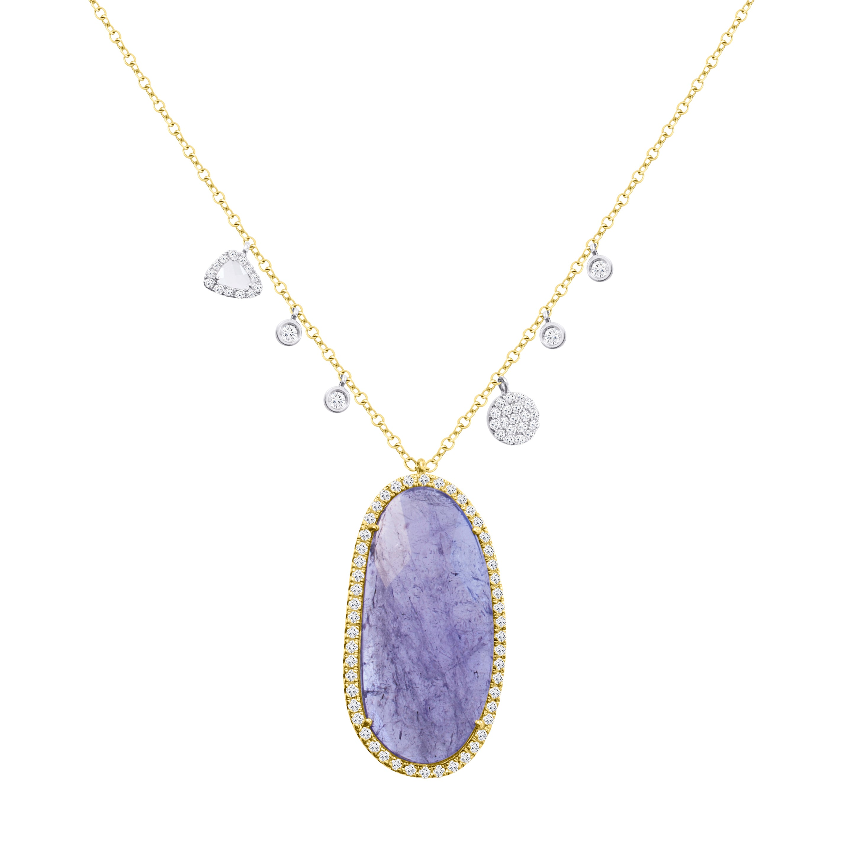 Tanzanite Halo Necklace