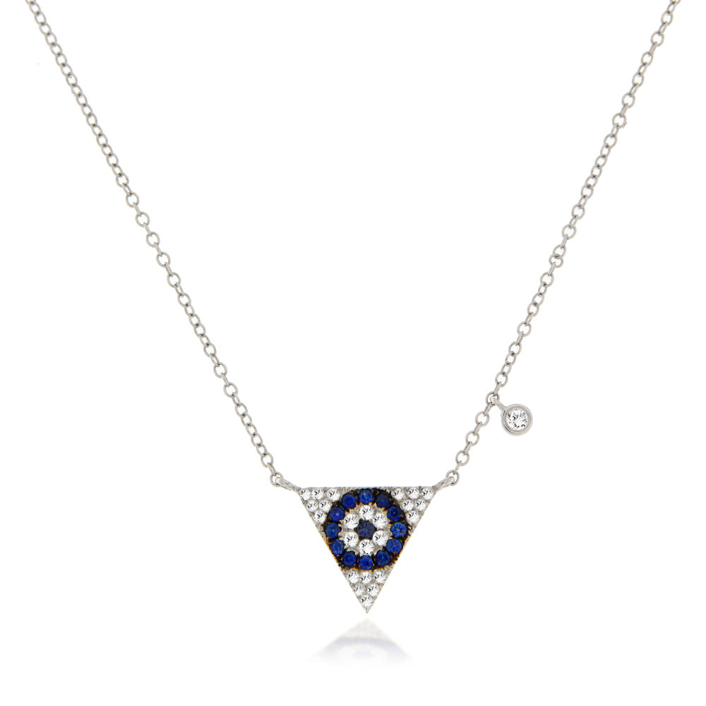 Evil Eye Triangle Necklace