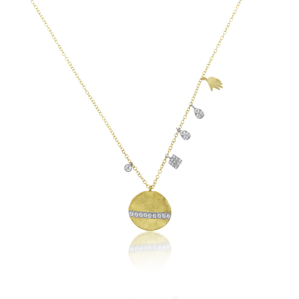 Gold and Diamonds Charm Necklace