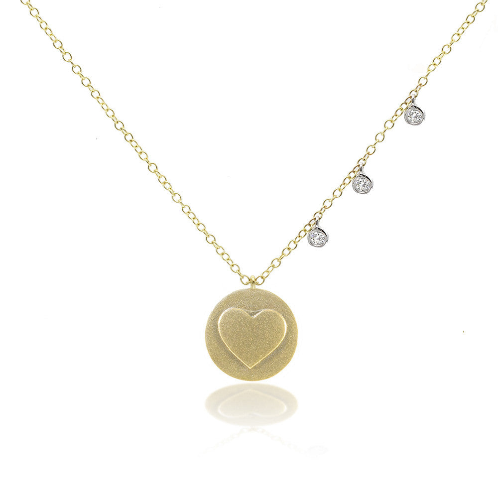 Off-Centered Gold Heart Necklace