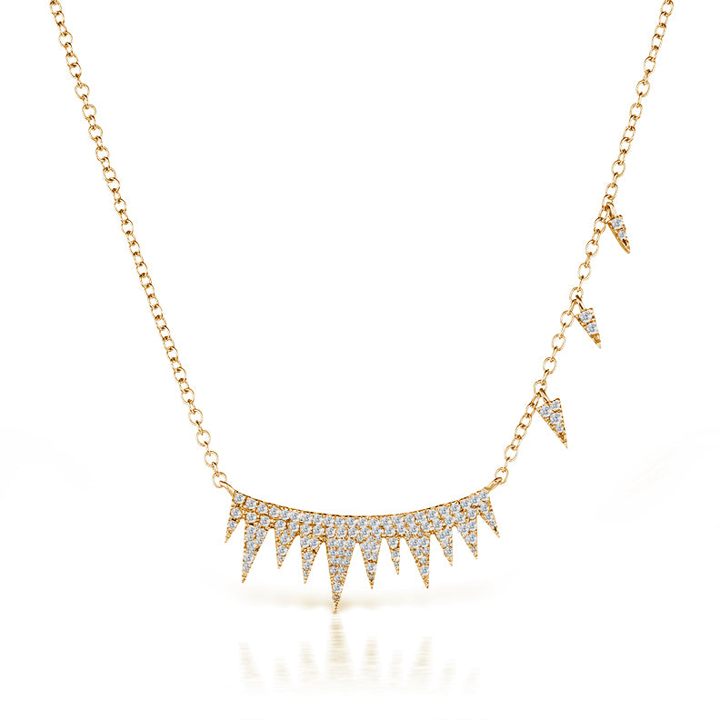 Rose Spike Diamond Necklace