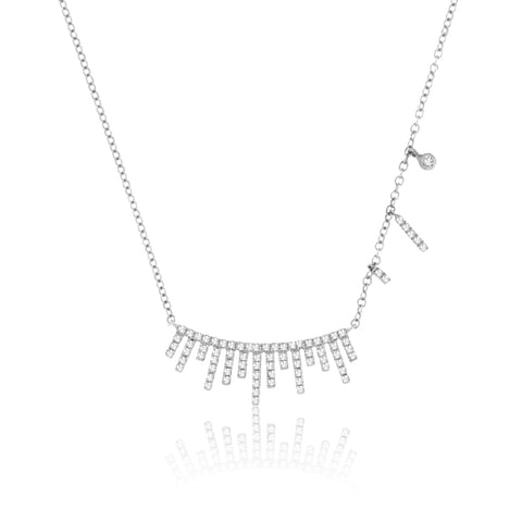 Meira T White Gold Bar Necklace