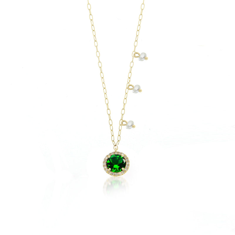 tourmaline necklace green
