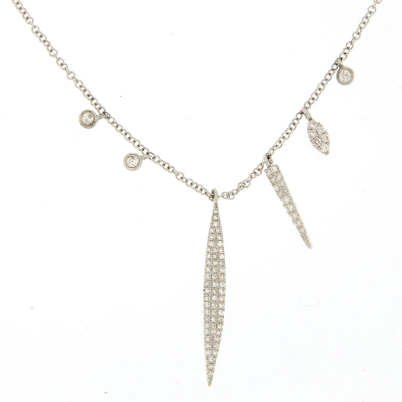 Dagger Diamond Charm Necklace