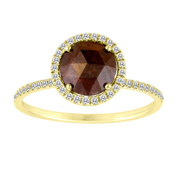 Rough Diamond 18 kt Yellow Gold Ring