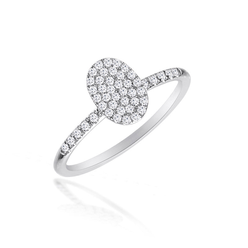 Oval Pave Stack Ring