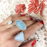 Chalcedony Diamond Ring