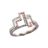 Diamond Puzzle Rings