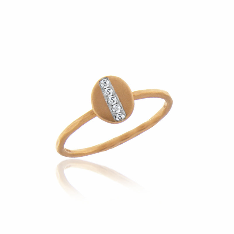 Rose Gold Split Diamond Ring
