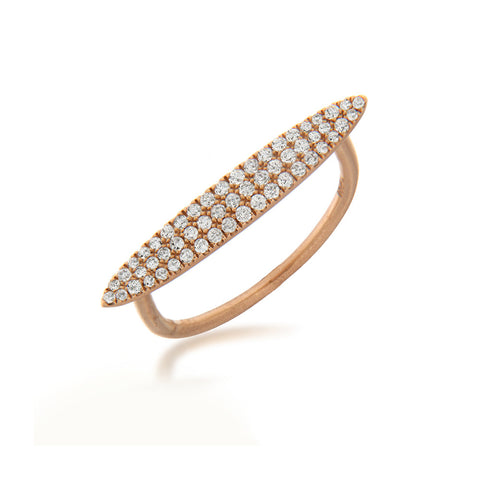 Rose Gold and Diamond Oval Encrusted Ring
