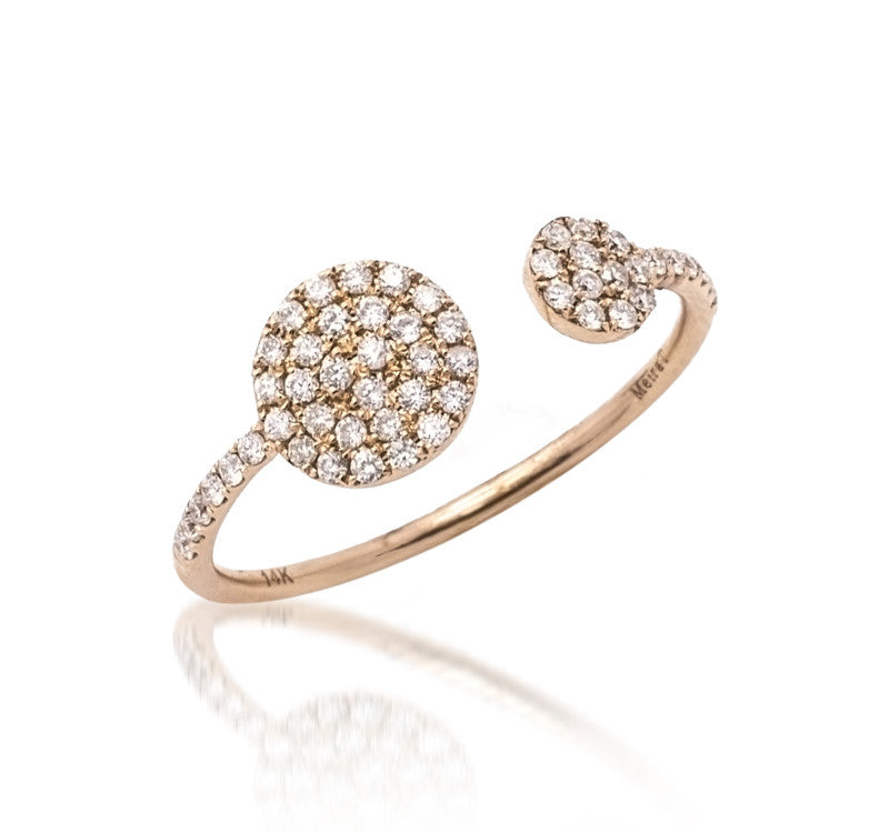 meira t open circle diamond ring